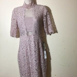 Express Dresses - Express Womens Dress Size 4 Pink Print Bodycon